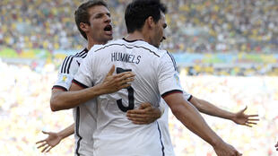 Mats Hummels (R) and Thomas Mueller (L) were on Wednesday both recalled to the Germany squad for the Euro 2020 finals