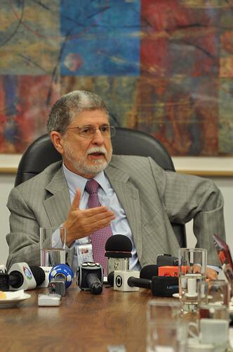 Coletiva de imprensa do ministro Celso Amorim em Nova York.