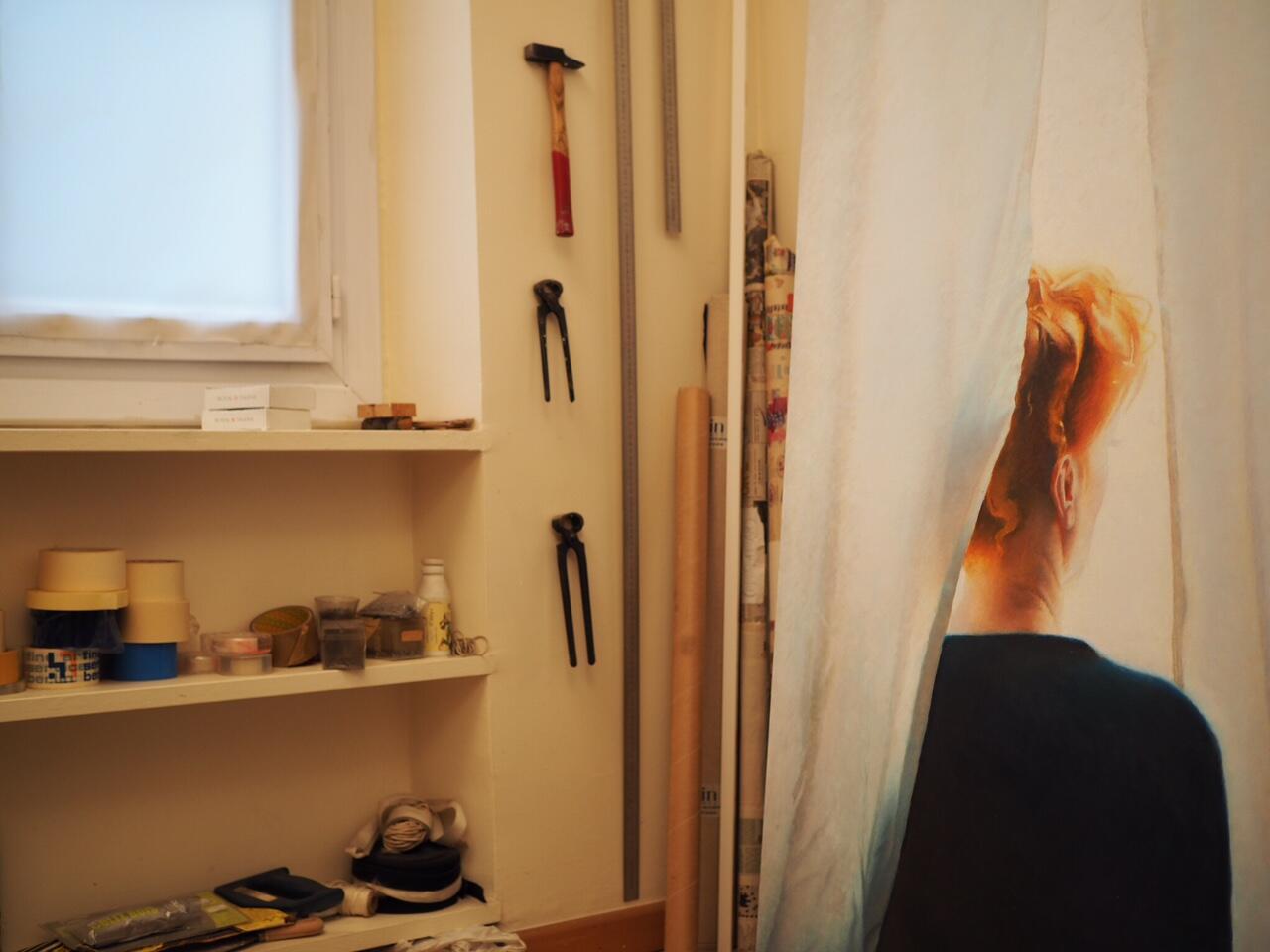 В парижской мастерской художника Эрика Булатова, январь 2017