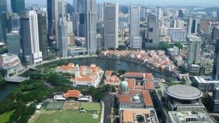 Le centre-ville de Singapour.