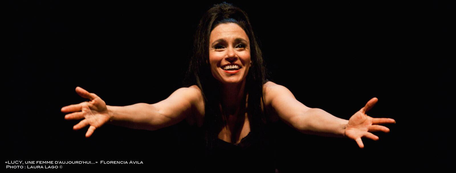 Florencia Avila en su espectáculo 'Lucy una mujer de hoy'.