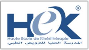Logo de HEK, la Haute école de kiné à Casablanca.