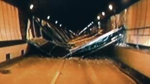 Desabamento de um túnel localizado na cidade de Yamanashi, a 80 km ao oeste de Tóquio.