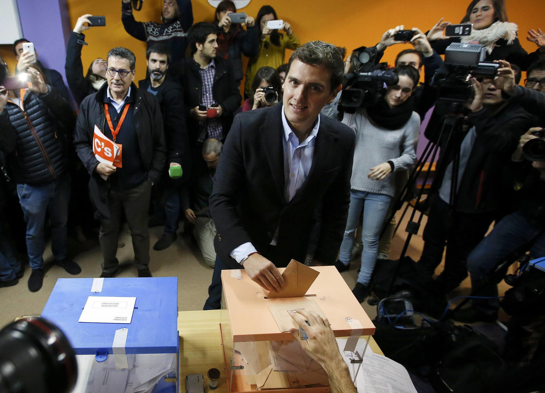 Albert Rivera, candidato à chefia de governo pelo Cidadãos,