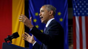 «Le monde a besoin d'une Europe forte et unie» a déclaré le président américain dans son discours de Hanovre, ce lundi 25 avril 2016.