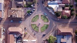 Une vue aérienne de la Place Che Guevara, à Bissau (Illustration).