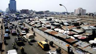 Vue de Cotonou au Bénin.