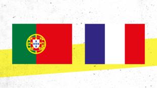 Bannière Euro Match Portugal France 23 juin 2021
