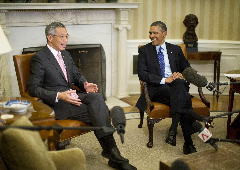 Tổng thống Obama tiếp thủ tướng Singapore tại Nhà Trắng. Ngày 02/04/2013