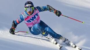L'Américain Ted Ligety lors de la première manche du slalom géant d'Adelboden (Suisse), le 9 janvier 2021