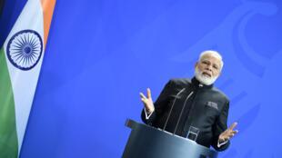 Le Premier ministre indien Narendra Modi au cours de sa visite officielle en Europe, ici le 30 mai 2017 à Berlin.