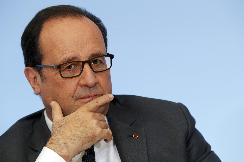 O  Presidente François Hollande. 4 de Outubro de 2016.