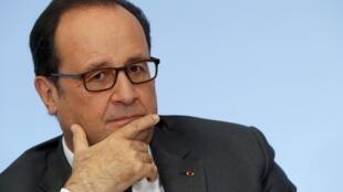Le président François Hollande à l'Elysée le 4 octobre 2016.