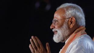 Le Premier ministre indien Narendra Modi photographié à New Delhi, le 8 mai 2019.