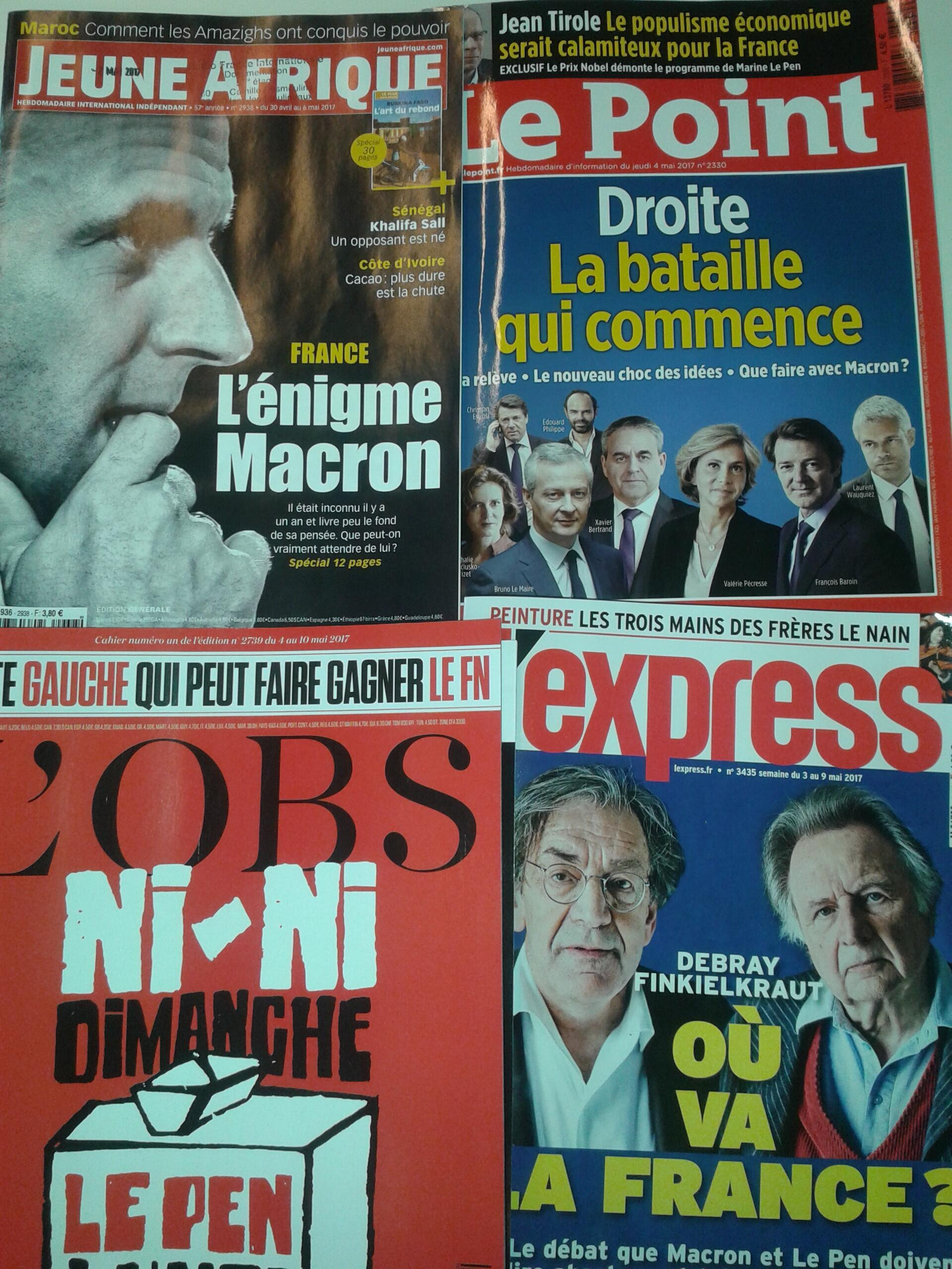 Magazines franceses - 6.5.2017