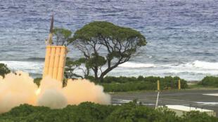 Một vụ bắn thử tên lửa thuộc hệ thống lá chắn (THAAD) tại quần đảo Marshalls, nam Thái Bình Dương, hồi 2012.