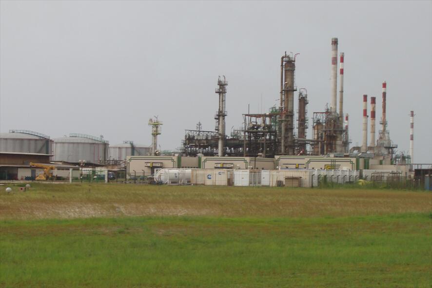 Raffinerie Sogara de Port-Gentil. La grève des salariés de l'ONEP a paralysé la production de pétrole au Gabon, touchant du même coup toute l'économie du pays