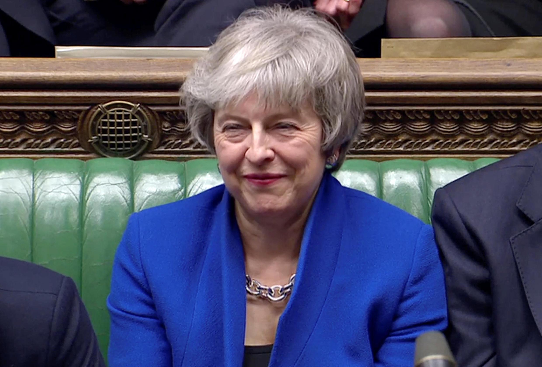 Theresa May s'est dite «ravie» que la Chambre des communes lui ai exprimé sa confiance. Le 16 janvier 2019.
