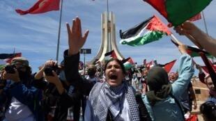 000_9A22MX tunisie manifestation soutien Palestiniens