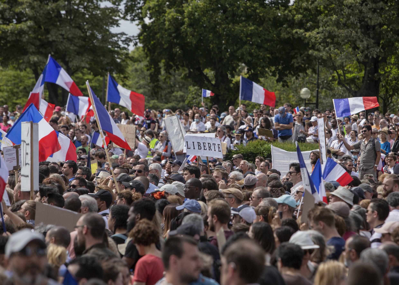 Manifestations contre le passe sanitaire à Paris
