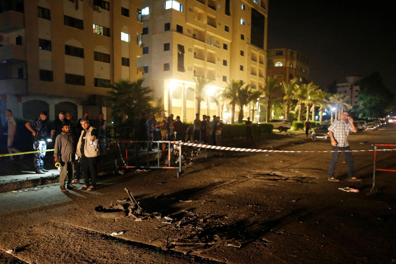 Cidade de Gaza, após ataque (27/08/19).