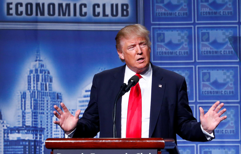 Mgombea urais wa chama cha Republican, Donald Trump.