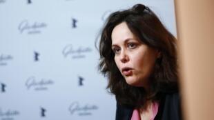 A diretora brasileira Maria Augusta Ramos, do filme O Processo, premiado na Berlinale em 24 de fevereiro de 2018.