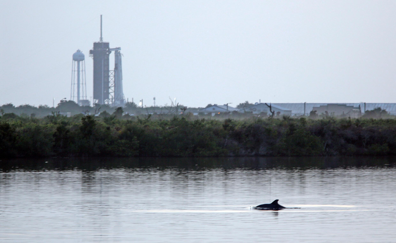 Ракета-носитель Falcon 9 на мысе Канаверал
