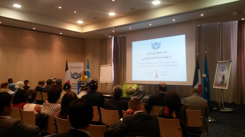 世界維吾爾大會組織在巴黎近郊召開代表大會,2016年7月11日。