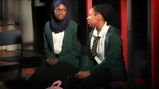 In the play, Cuttin'It, where characters Iqra (Marième Diouf) and Muna (Jessica Kennedy) meet for the first time