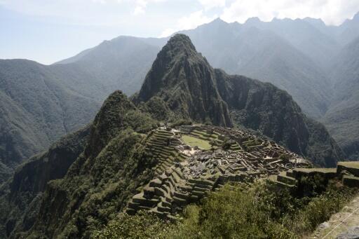 Una vista del Machu Picchu, en Perú.
