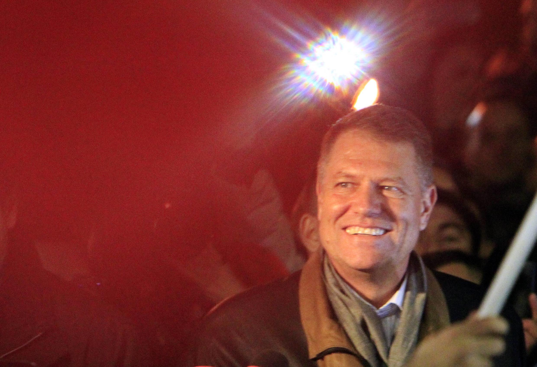 Le nouveau président roumain Klaus Iohannis, le 16 novembre 2014.