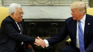Mahmoud Abbas et Donald Trump à la Maison Blanche, à Washington, le 3 mai 2017.