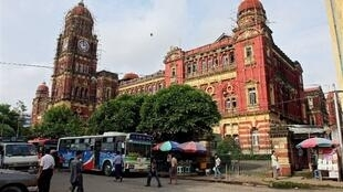 La Cour suprême de Birmanie à Rangoon.