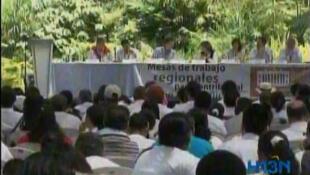 Mesa de trabajo regional en Medellín (captura de pantalla).