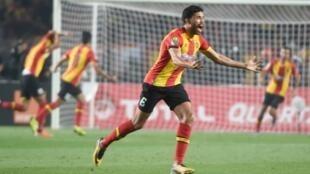 Le défenseur Mohamed Ali Yaccoubi lors de la Ligue des champions 2018/2019.