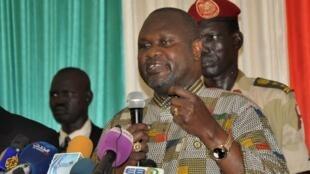 Riek Machar alipowasili mwezi Aprili tarehe 26 mwaka huu .