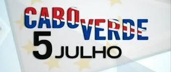Cartaz sobre o 5 de Julho, dia da independência de Cabo Verde.