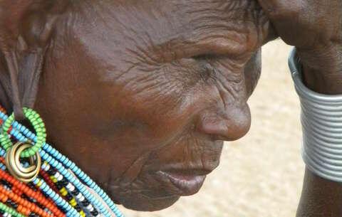A displaced Samburu elder from Kenya's Laikipia district