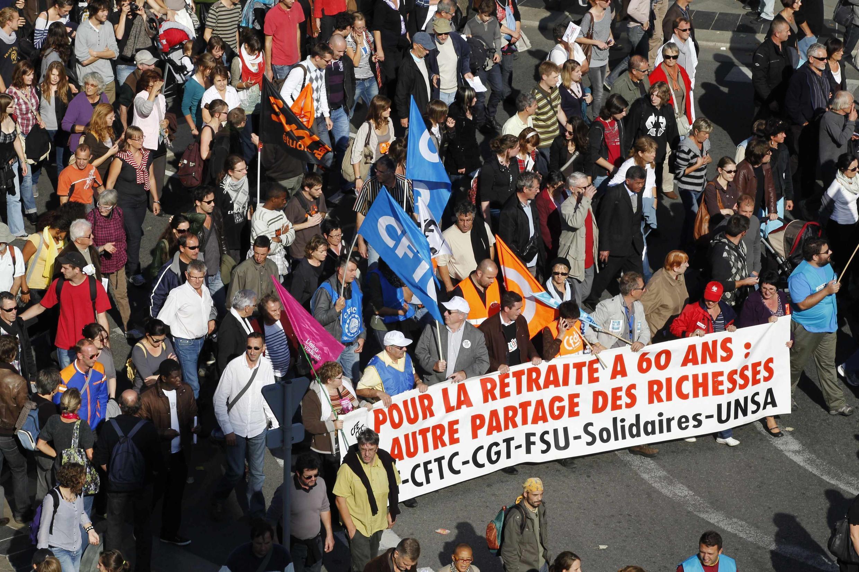 Manifestation à Nantes, le 12 octobre 2010.