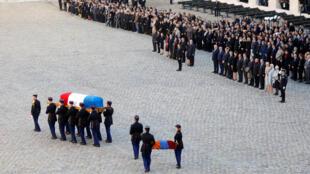 Церемония прощания с Шарлем Азнавуром