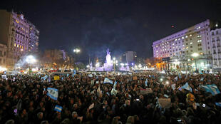 Manifestation contre la corruption et la sénatrice Kirchner, le 21 août 2018 à Buenos Aires.