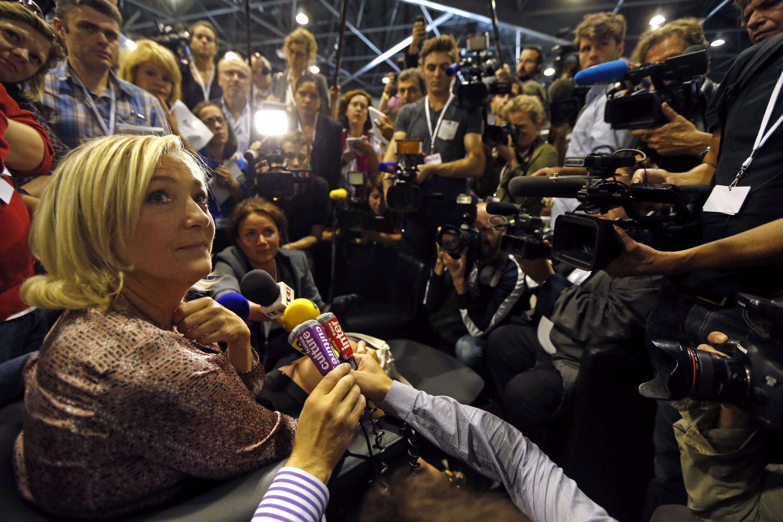 Front National leader Marine Le Penin Marseille last weekend