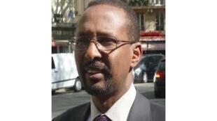 Daher Ahmed Farah, porte-parole de la coalition de l'opposition djiboutienne, l'Union pour le salut national (USN), arrêté le 4 mars 2013.