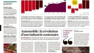 """""""Orçamento eleitoreiro"""" é manchete no jornal francês Les Echos, nesta quinta-feira (29)."""