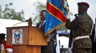 Prestation de serment du président Joseph Kabila, le 20 décembre 2011, après son élection.