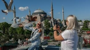 confinement turquie touriste sainte sophie istanbul