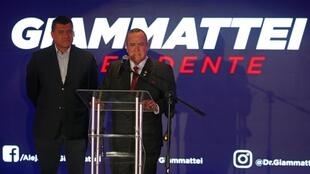 Ông Alejandro Giammatei phát biểu tại thủ đô Guatemala sau thông báo kết quả bầu cử tổng thống Guatemala, tối 11/08/2019.