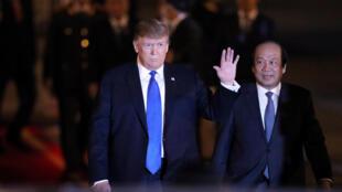 2019年2月26日美國總統特朗普到達越南河內
