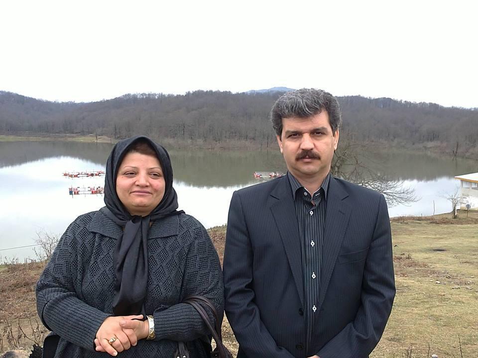 رضا شهابی و همسرش ربابه رضایی